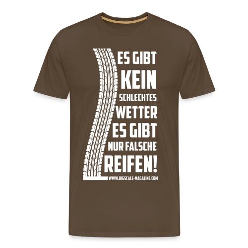 Falsche Reifen - Weißer Druck - Männer Premium T-Shirt