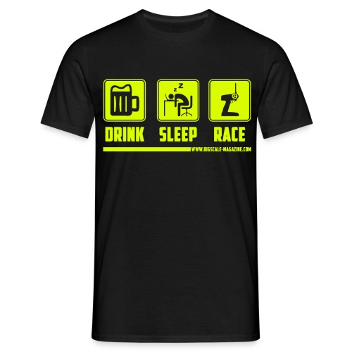 Drink, Sleep, Race - UTZ Special Edition - NEON Druck - Männer T-Shirt