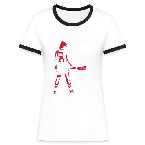 Laxgirl 24 Laura - Frauen Kontrast-T-Shirt