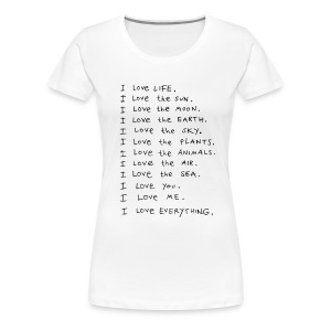 LOVEshirt I love - Frauen Premium T-Shirt