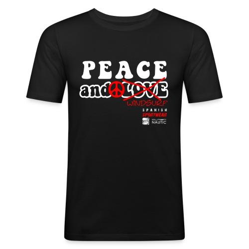 Peace and Windsurf - Camiseta ajustada hombre