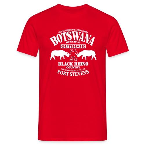 Port Stevens Design, Nashorn, Black Rhino, Botswana - Männer T-Shirt