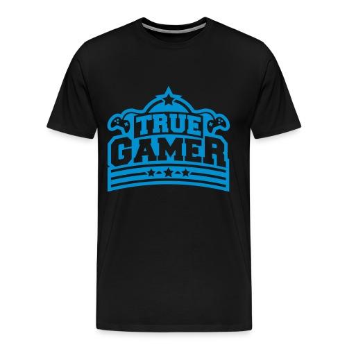 T-SHIRT TRUE GAMER - Men's Premium T-Shirt