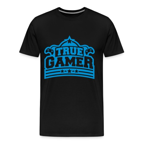 T-SHIRT TRUE GAMER - Men's Premium T-Shirt