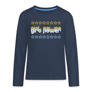 Girl Power Teenage Long Sleeve Shirt - Teenagers' Premium Longsleeve Shirt