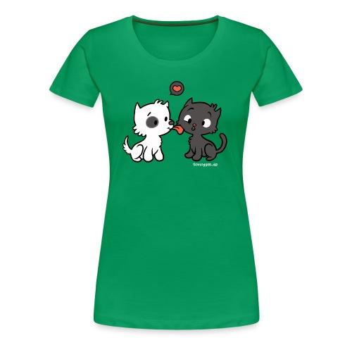 Hund liebt Katze - Frauen Premium T-Shirt