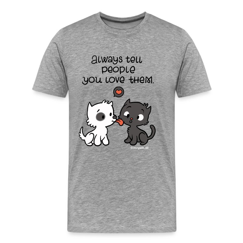 Dog loves Kitty - Männer Premium T-Shirt