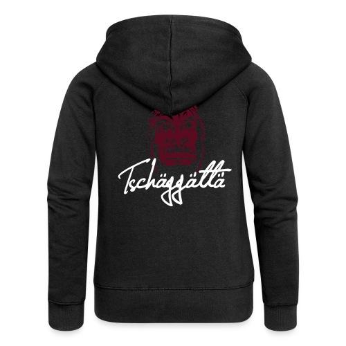Women's Hooded Jacket - Tschäggättä flexography logo   - Women's Premium Hooded Jacket