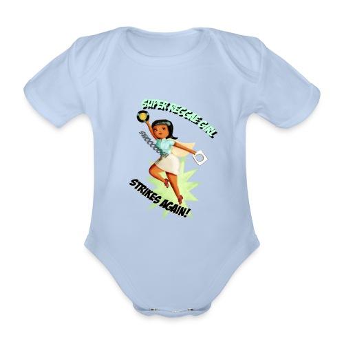 Super Reggae Girl - Organic Short-sleeved Baby Bodysuit