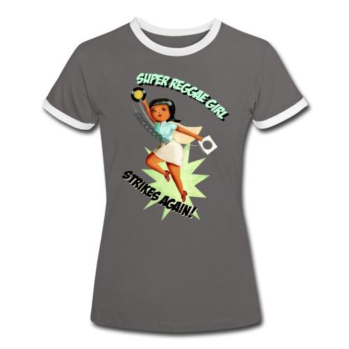 Super Reggae Girl - Women's Ringer T-Shirt