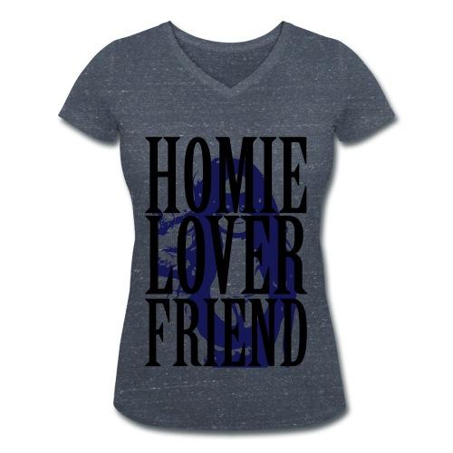 HomieLover - Camiseta ecológica mujer con cuello de pico de Stanley & Stella