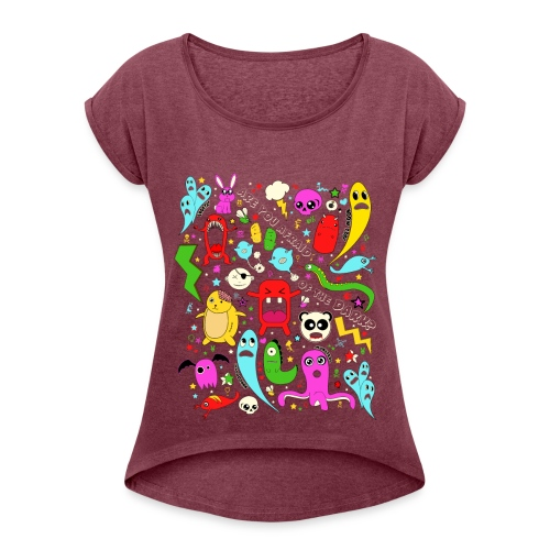 Koszulka damska z lekko podwiniętymi rękawami