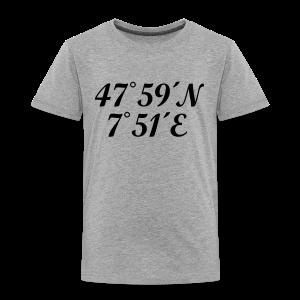 Freiburg Koordinaten (Schwarz) Kinder T-Shirt - Kinder Premium T-Shirt