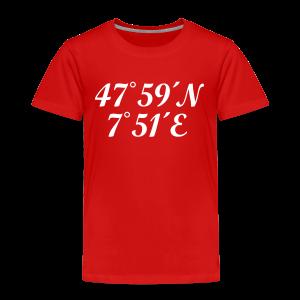 Freiburg Koordinaten (Weiß) Kinder T-Shirt - Kinder Premium T-Shirt