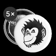 Buttons & Anstecker ~ Buttons klein 25 mm ~ Klickaffen Sticker