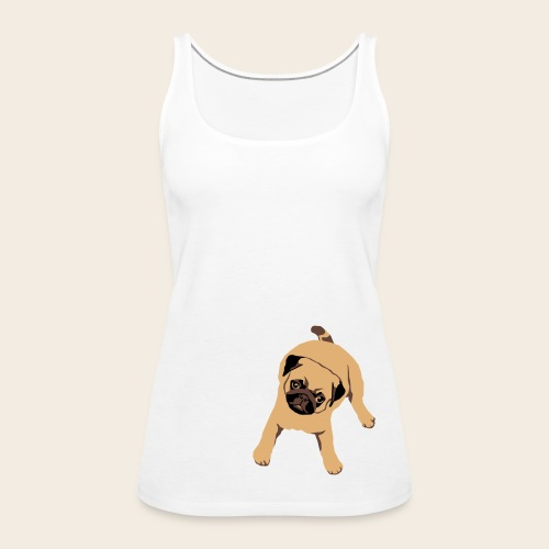 Mops Welpe Top - Frauen Premium Tank Top