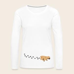 Mops läuft Langarmschirt - Frauen Premium Langarmshirt