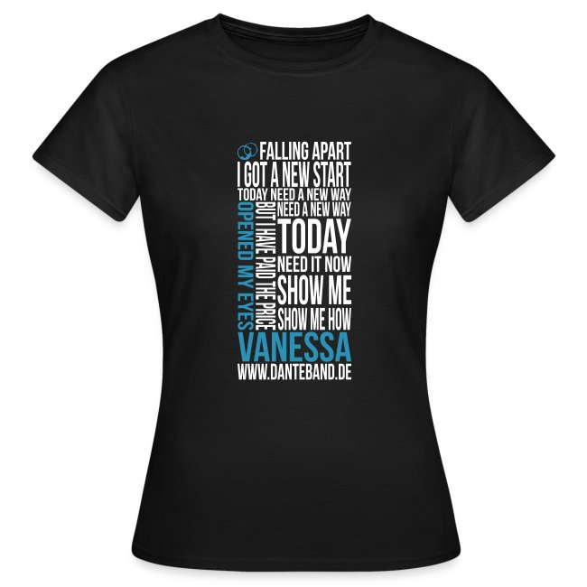 DANTE T-Shirt woman black - Vanessa