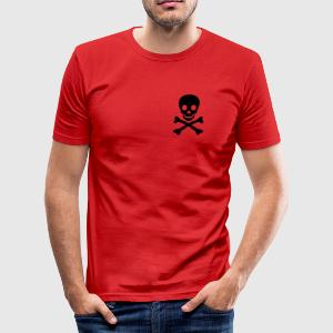 skull x_vec_3 en T-Shirts - Men's Slim Fit T-Shirt