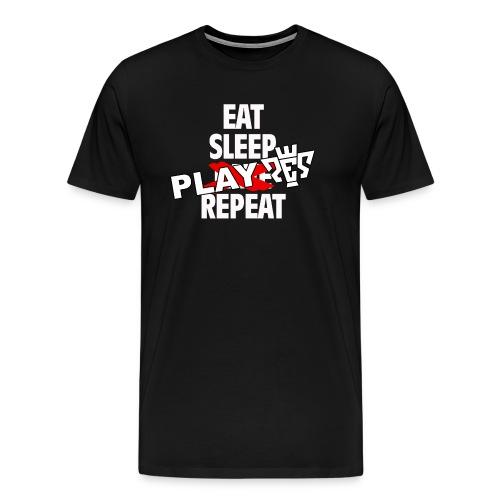 Eat, sleep, play PES, repeat T-Shirt - Men's Premium T-Shirt