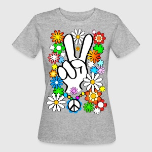 Flower Power Peace Shirt - Frauen Bio-T-Shirt