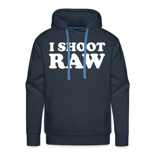 I shoot raw - Mannen Premium hoodie