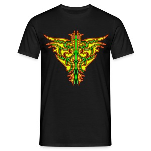 Maori Butterfly Black Light Print Print Classic Men - Men's T-Shirt