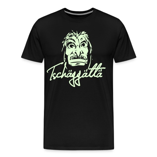 Men's Premium T-Shirt - Tschäggättä phosphorescent logo  - Men's Premium T-Shirt