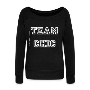 Team Chic boater neck sweater - Women's Boat Neck Long Sleeve Top
