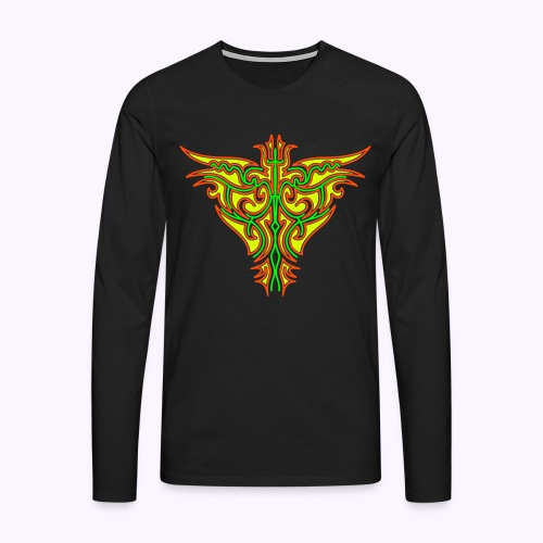 Maori Firebird Men's Longsleeve Shirt. - Men's Premium Longsleeve Shirt