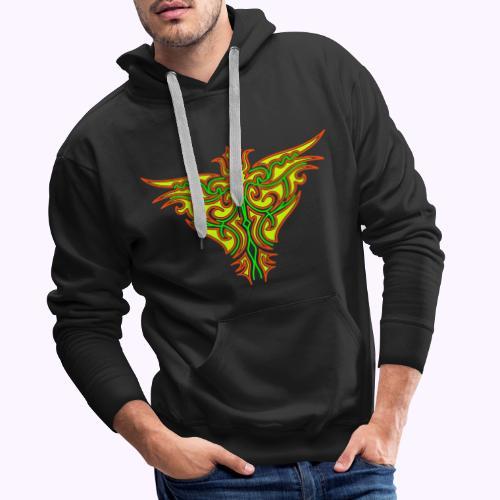 Maori Firebird Men's Hoodie - Sweat-shirt à capuche Premium pour hommes