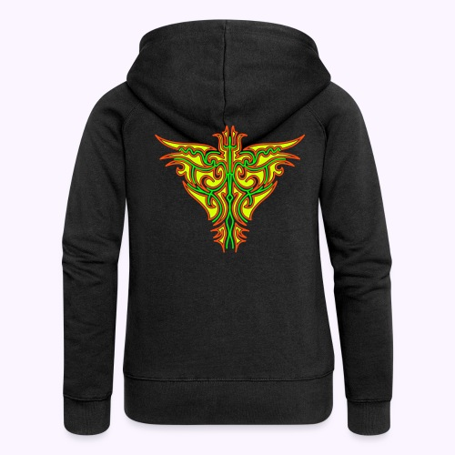 Maori Butterfly Women's Hooded Jacket Back Print - Women's Premium Hooded Jacket