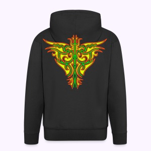 Maori Firebird Men's Hooded Jacket Back Print - Mannenjack Premium met capuchon