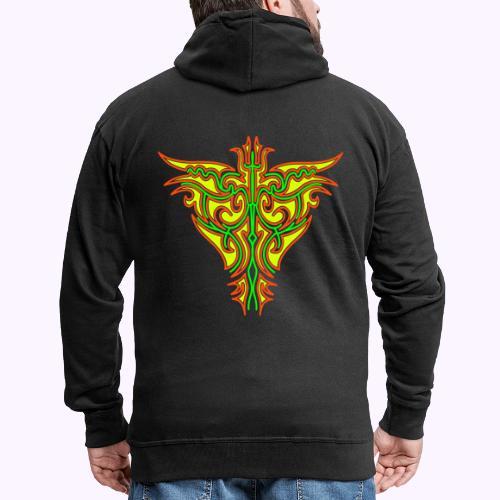 Maori Firebird Men's Hooded Jacket Back Print - Veste à capuche Premium Homme
