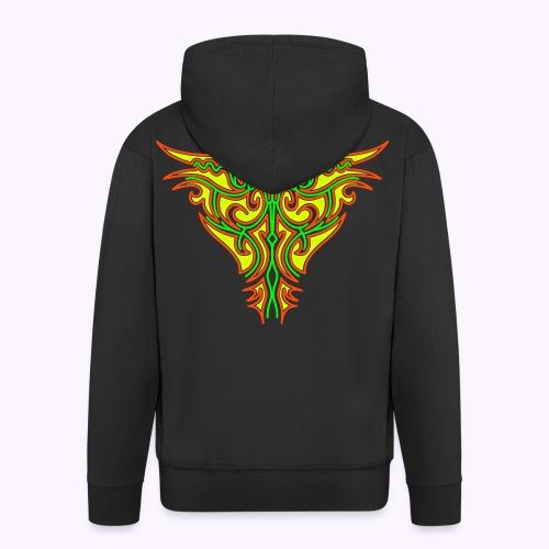 Maori Firebird Men's Hooded Jacket Back Print - Men's Premium Hooded Jacket