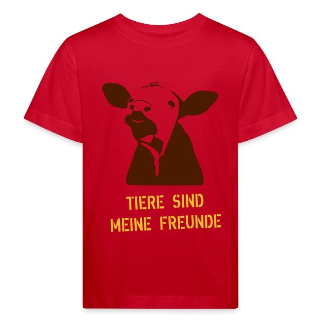"""Kinder-T-Shirt """"Tiere sind meine Freunde"""" bio"""