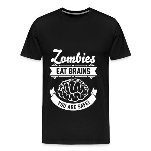 Men's T-Shirt Zombies Eat Brains - Mannen Premium T-shirt
