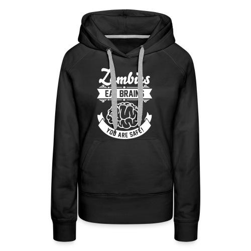 Women Sweater Zombies Eat Brains - Vrouwen Premium hoodie