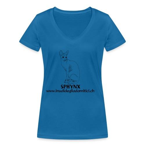 T-shirt ecologica da donna con scollo a V di Stanley & Stella