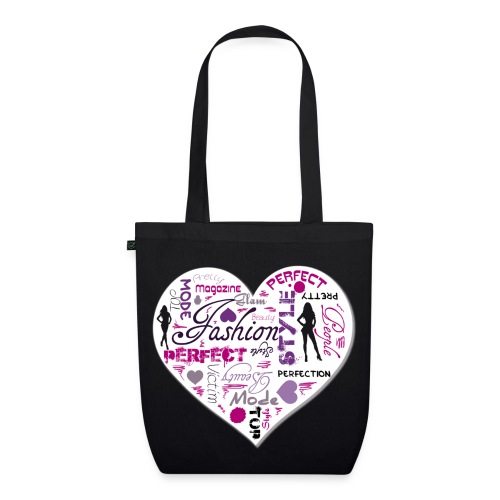 borsa fashion heart - Borsa ecologica in tessuto