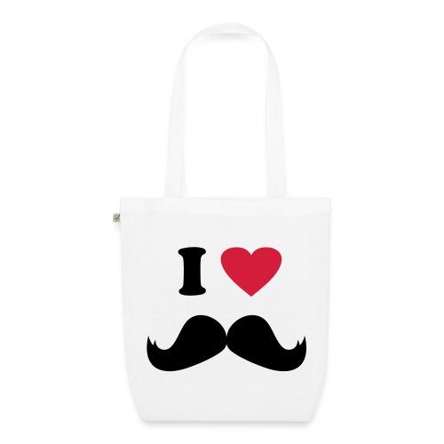 borsa i love moustache - Borsa ecologica in tessuto
