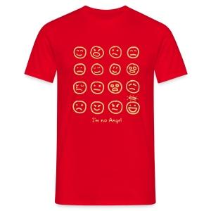 12 Faces (cream print) - Men's T-Shirt