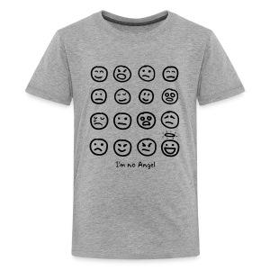 Teenager's 12 Faces shirt (black print) - Teenage Premium T-Shirt