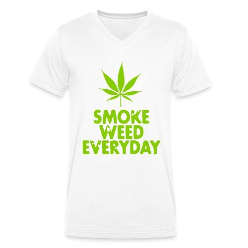 Smoke Weed Everyday - Økologisk Stanley & Stella T-shirt med V-udskæring til herrer
