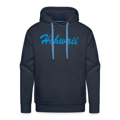 Herren Kapuzenpullover, dunkel blau, Hohwaii Brustprint und kleinem Rückenprint - Männer Premium Hoodie