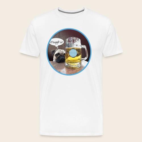 Mops mag Bier T-Shirt O' zapft is - Männer Premium T-Shirt