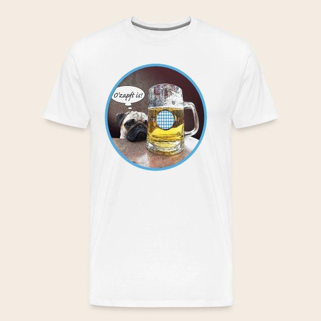 Mops mag Bier T-Shirt O' zapft is