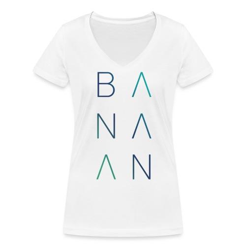 BANAAN/02 vrouwen v-hals bio - Vrouwen bio T-shirt met V-hals van Stanley & Stella