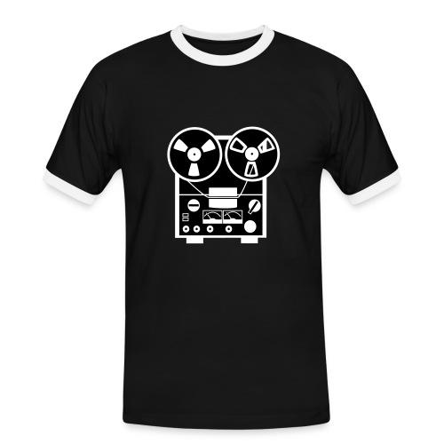 Oldschool Taperecorder - Mannen contrastshirt