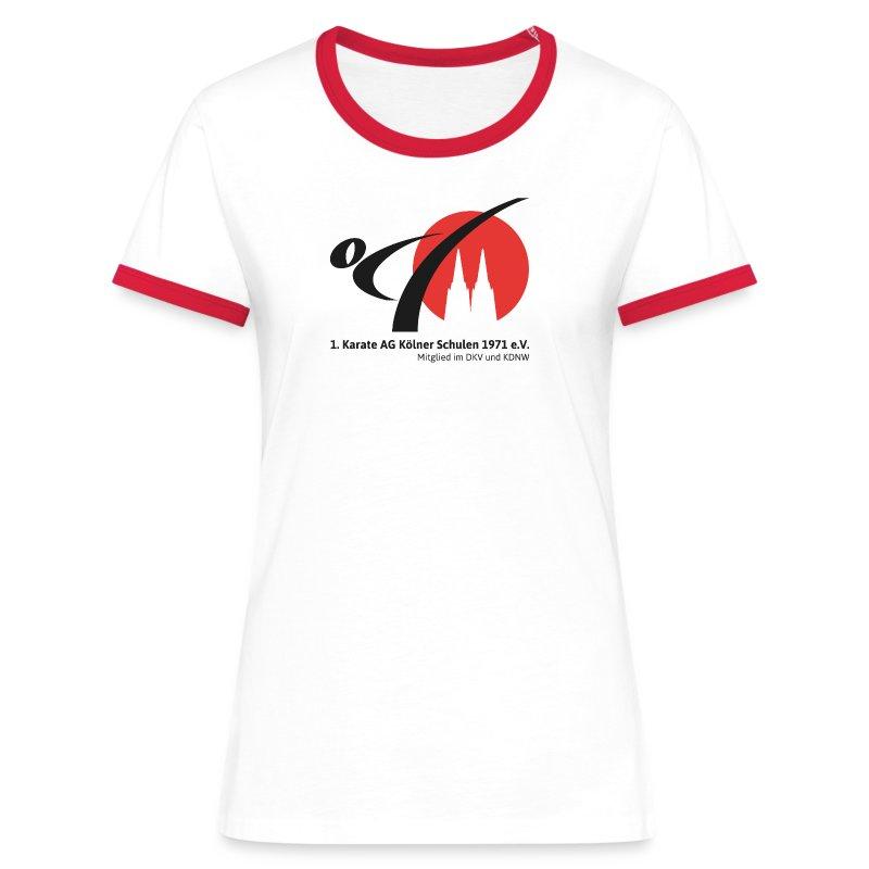 Fanshop_Logo_Karate_Ag - Frauen Kontrast-T-Shirt